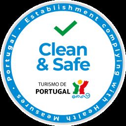 Clean & Safe Stamp Logo