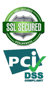 SSL Secured & PCI DSS Compliant Logos